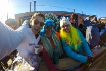 Hanging out with fellow WAIS scientists - strangely, we all brought our own costumes to wear at field camp.... similar minds..