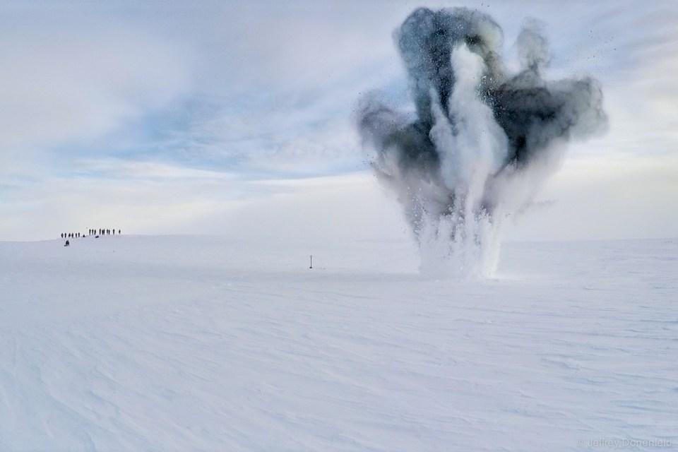 Blowing up 15lbs of PETN in Antarctica