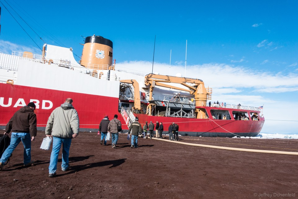 Walking across the McMurdo Ice Pier to the gangway, you get a sense of the scale of the ship.