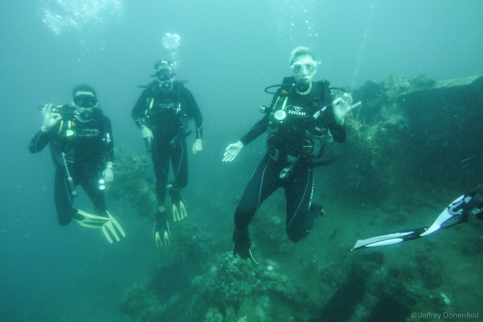 Diving in Coron.
