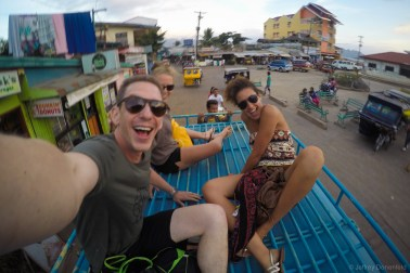 After a day of diving, we decided to get some fresh air on the jeepney ride back to town.