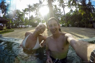 Naturally, we had to relax in the pool at the Mahogany Resort, where Brad and Talitha were staying.