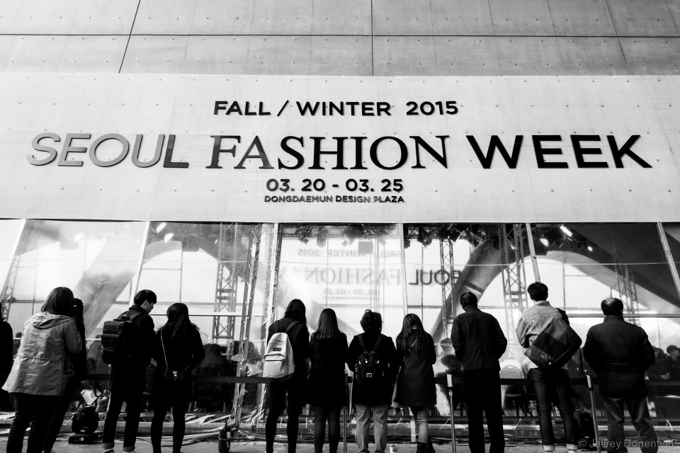 """I spent a bit of time at Seoul Fashion week, which was certianly interesting seeing the korean kids showing off their edgy """"street style""""."""