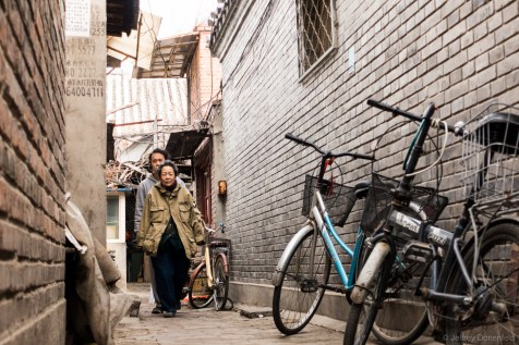 Biking through the Hutongs of central Beijing. Entire families own blocks of these traditional styled homes. Some of them are actually very old, but lots of other subdivisions, like the one pictured, have been built in recent years to emulate the traditional style. They're really brand new.