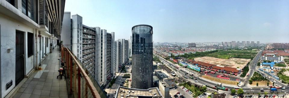 Suskita's apartment is in a massive apartment complex.