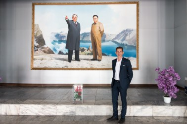 These epic paintings of the leaders were everywhere, and displayed proudly.