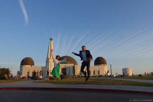 An exciting sunset at the Griffith Observatory.