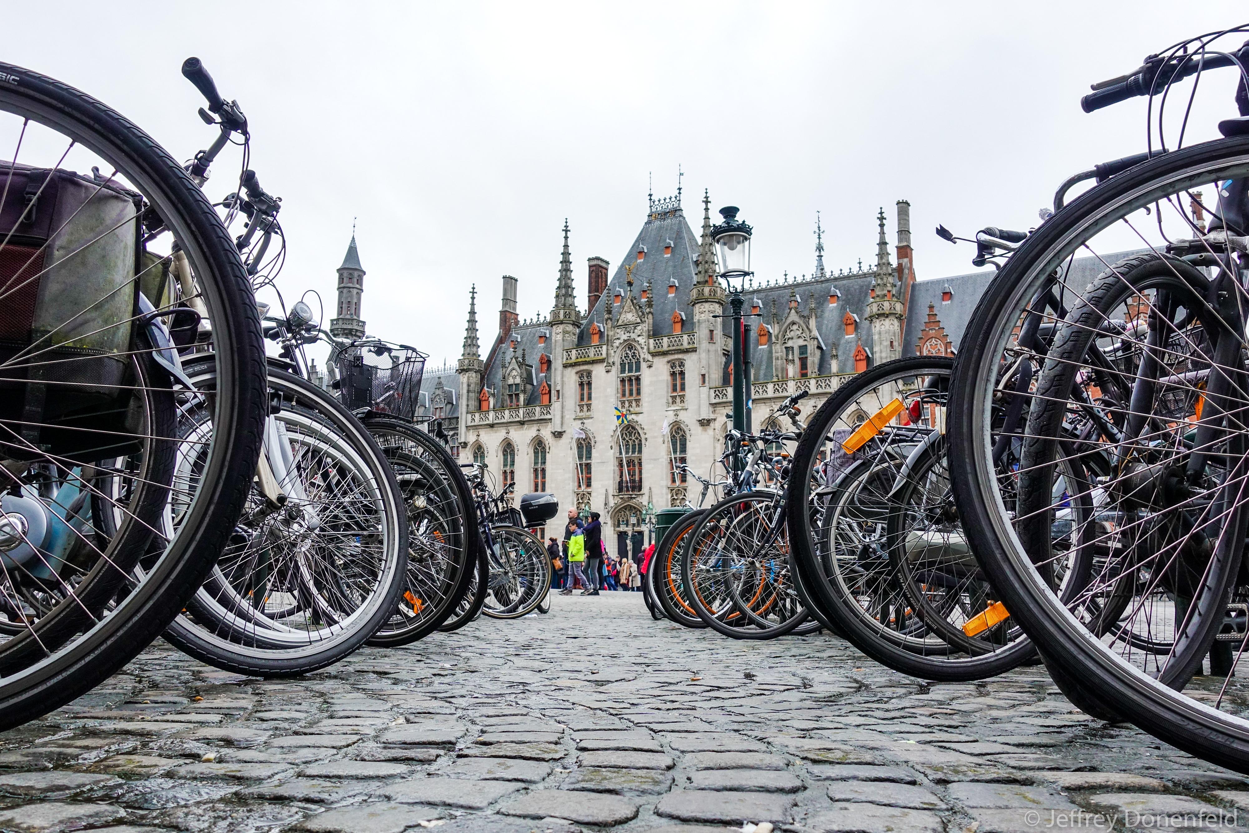 Lots of bikes in Brussels