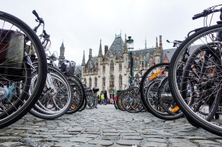 Lots of bikes in Brussels