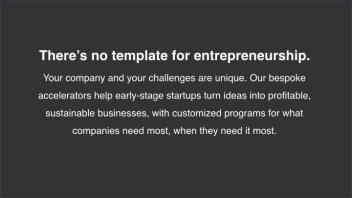 No Template for Entrepreneurship