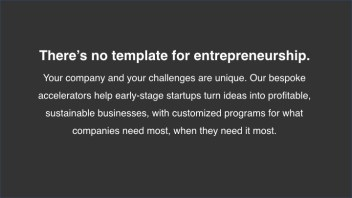 No Template for Entrepreneurship