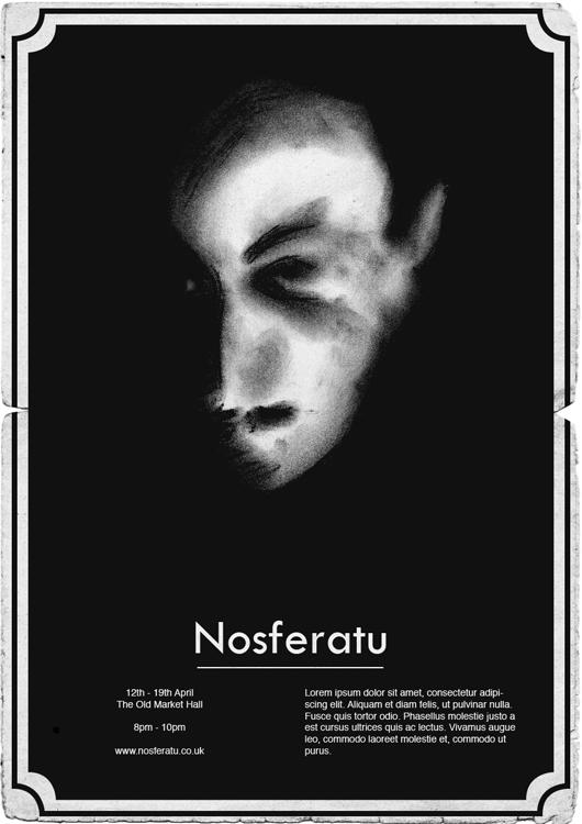 Nosferatu Poster 1920 Style