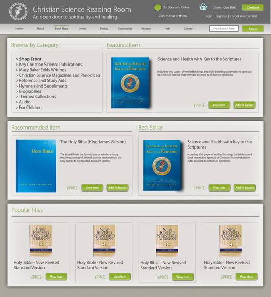 Christian Science Online Reading Room - Bookshop