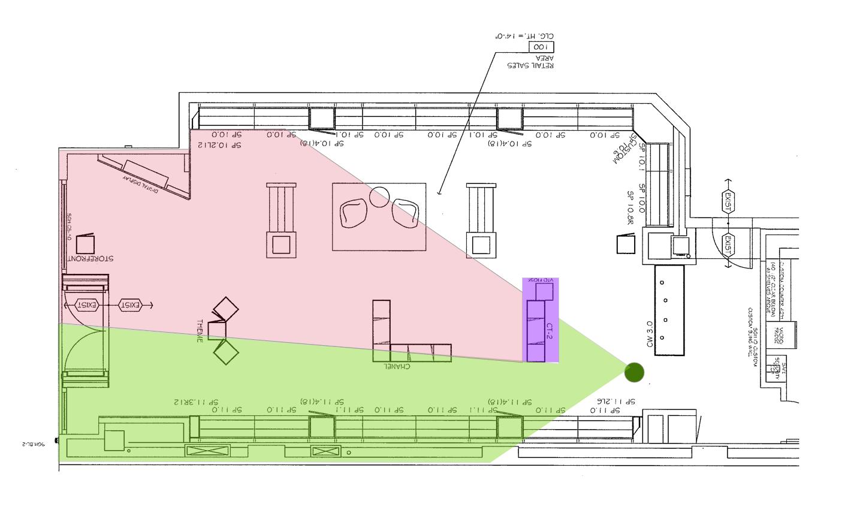 Sunglass Hut Floorplan – Kiosk Day 1 Visibility