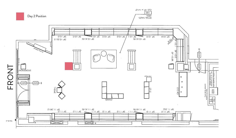 Sunglass Hut Floorplan – Kiosk – Day 2