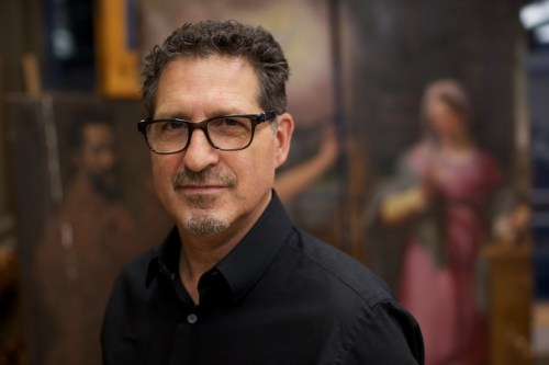 Photograph of George Bisacca at the Metropolitan Museum of Art by Jon Roemer for Middlebury Magazine