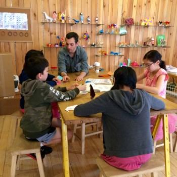 Teaching at Taro's Origami Studio