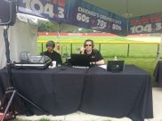 1st live broadcast at K-Hits. This was Naperville Ribfest 2013.