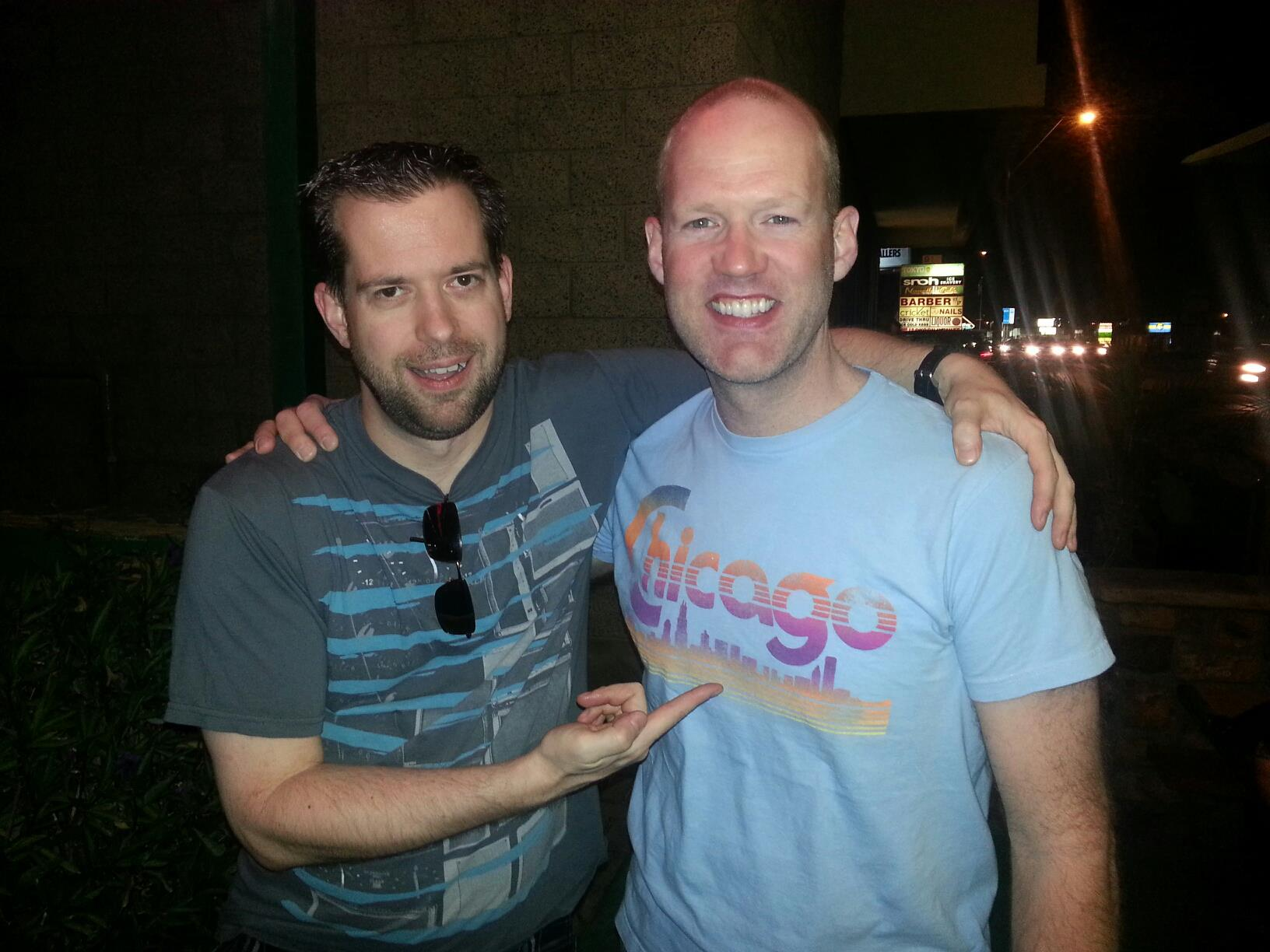 Not only did I miss Chicago after 10 years away, I missed my friends! This is Drew Walker from US99.5.