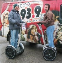 Buzz Craven and I looking like geeks on those wacky Segways.