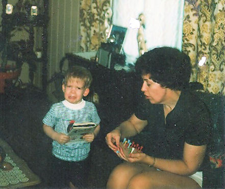 One of the few pics of my mom...and I'm bawling. Melodramatic...