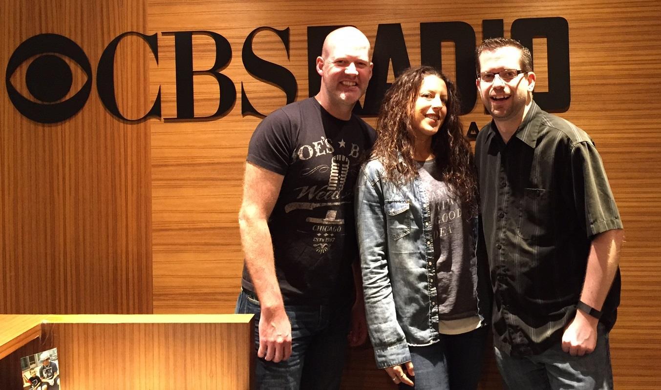 The CBS/Chicago midday maniacs! (Drew Walker - US99.5, Nikki - B96, Jeffrey T Mason - 104.3 K-Hits)