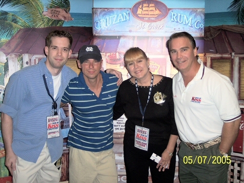 The Kiss Country posse with Kenny Chesney.