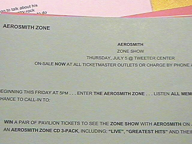 Wanna see Aerosmith in concert? Too late! This was 2001.