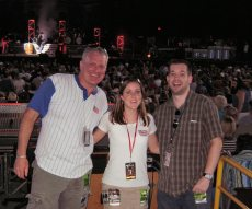 Michael J, Kim Sauer and I having fun at some random concert. (There were TONS!)