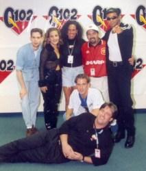 Denine and Adam Marano, along with Donna Storm, Diego, Steve Bartell, & Joe Mamma (sans his signature mustache)!