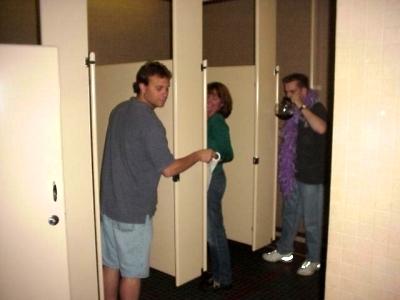 Another ODD bathroom habit.