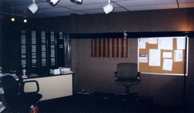 This is the backwall of the studio. It was SO rundown!