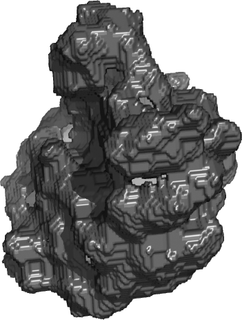 A rhibosome molecule made of voxels