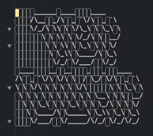 WhitespaceSelectionInASCIIArt