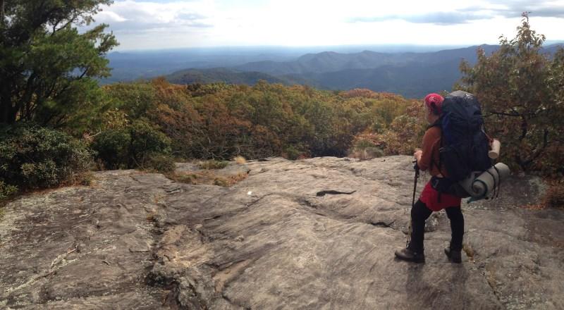Jeff Ryan on the summit of Blood Mountain, Georgia