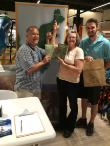 Photo of Appalachian Odyssey book signing, L.L. Bean store, Lynnhaven, Virginia