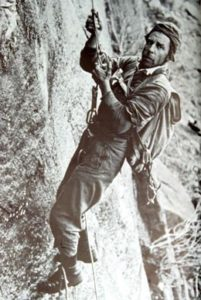 Photo of Fred Beckey. © North Cascades National Park Archives