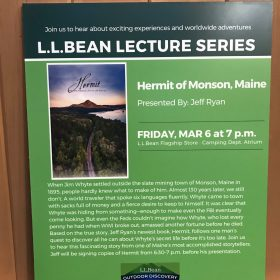 Watch Video of Hermit Presentation at LL Bean Flagship Store