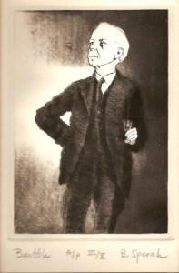 Bela Bartok, print by Bruce Spevak