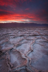 Salt flats in Death Valley National Park.