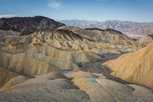 Eroded badlands in Death Valley.