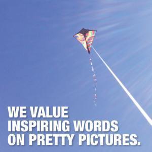 we value inspiring words