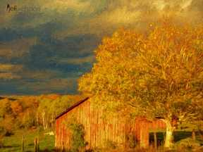 Stormy Weather Vermont Farm painted with Topaz Impression - Palette Knife I