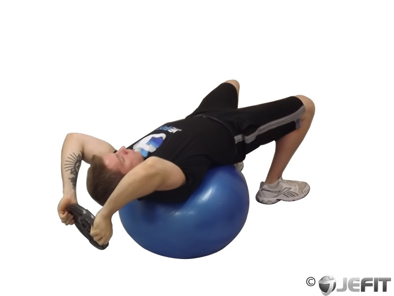 Weight Plate Pullover On Exercise Ball Exercise Database