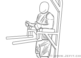 Knee Hip Raise On Parallel Bars