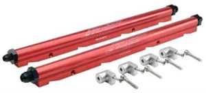 FAST 146035KIT: LSX Billet Fuel Rail Kit LS1LS6 Red   JEGS