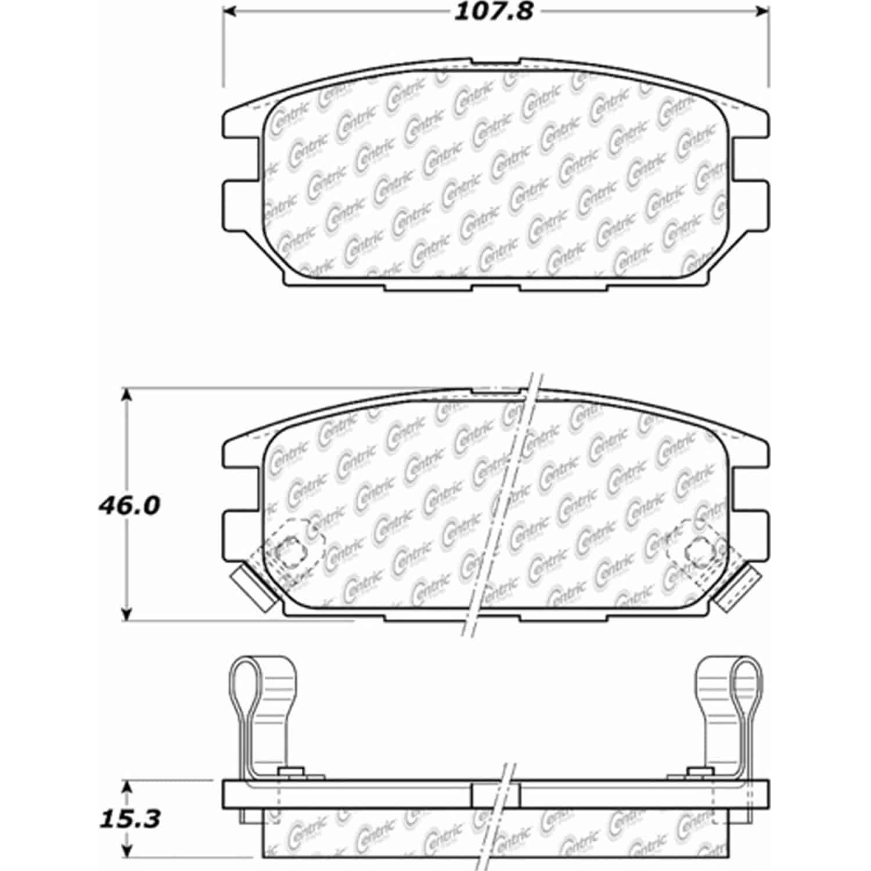 Stoptech 105 Posiquiet Ceramic Pads Dodge