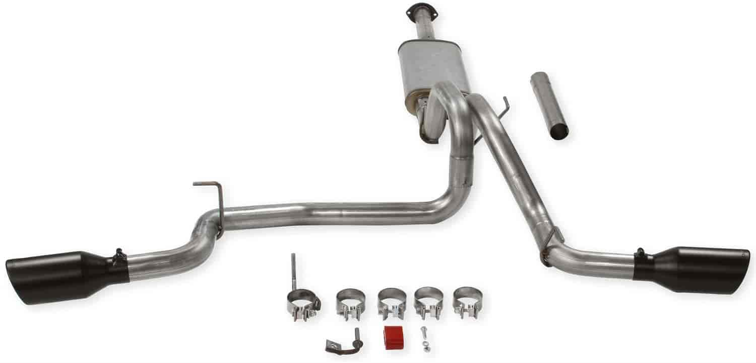 flowmaster flowfx cat back exhaust system 2016 2019 toyota tacoma 3 5l 2 4 wd all wheelbases