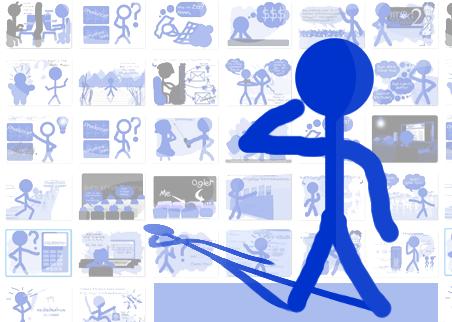2009 Blue Stickman Doodles