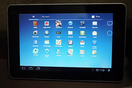 Huawei Mediapad App UI